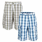 New Majestic Athletic NY Mens Check Cargo Combat Bermuda Shorts New York Yankees