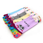 Lady Womans Girls Smile Five Fingers Trainer Toe Ankle Sport Socks One Size