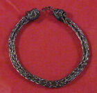 "Artisan Hematite unisex anklet by Marie 6"" - 11"" by Marie #249"