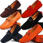 Leather Slip On buckle Loafers mens driving car shoes moccasin boots  [JG]
