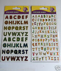 Funky Alphabet Letters Craft Stickers Self Adhesive Assorted 1cm or 1.5cm Sizes