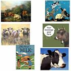 Cow Magnet Herd Farm Dairy Elsie Black White Moon Choose Fave Cow Picture