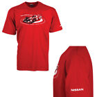 Nissan Genuine Mans Le Mans Motor Sport T-Shirt in Red Short Sleeve Nissan Logo