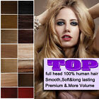 Premium Clip-in Human Hair Extensions Many Colours & Lengths Daily Deal