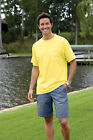 Hanes 100% Cotton Beefy Comfortable Short Sleeve T-Shirt w/ Pocket New