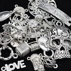 Mixed Tibetan Silver Pendant Charm Connector Ring Base Jewellry Making 25g 50g