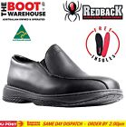Redback Work Boots RCBN CHEF, Non Safety Soft Toe, Black Slip-On Shoes. New!