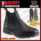 Redback UBBK Non Safety Work Boots. Elastic Sided Bobcat. Oiled-Kip Black. New!