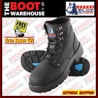 Steel Blue 'Argyle' 312102 Work Boots In Black. Steel Toe Cap Safety. Lace up.