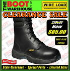 "Wide Load 'Hi Top' Orthotic Lace Up, 8"" Work Boots. Steel Toe Cap Safety. NEW!"