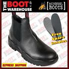 Mongrel 240011 Work Boots, Steel Toe Safety. Black Rambler. Elastic Sided. NEW!