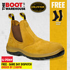 Oliver Work Boots, 34624, Steel Toe Safety. 'Beige' Elastic Sided. Brand New!