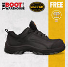 Oliver Work Boots 44500, Composite Toe Cap Safety. 'Black' Lace-Up. METAL FREE!
