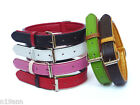 LEATHER COLLAR SIZE MEDIUM PICK BLACK BROWN LIME RED WHITE FAUX LEATHER LINING