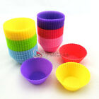 Silicone Round Shape Cup Cake Muffin Baking Baking Mould Cupcake Case DIY