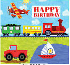 Train boat tractor plane car truck party table items transport FREE POSTAGE