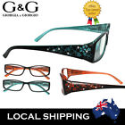 Young Look Lady Women Reading Glasses Blue Orange Flower 1.0 1.5 2.0 2.5 3.0 3.5