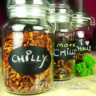 Chalkboard Labels Gift Food Stickers Sheets in 12 different shapes sizes