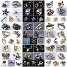 Vintage Cool Sexy Cat Fox Flower Knuckle Finger Ring Punk Womens Party Jewelry
