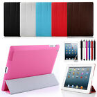 For New iPad 4 4G Gen 3 3rd 2 Slim Magnetic PU Leather Stand Case Smart Cover
