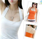 Women Tops Tees Cotton Halter Vests Tank Tops Cami Strapless T-shirts 10 Colors