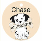 Personalized Custom Pet Dog Cat Tag ID Cute Dalmation puppy bone Any name Text