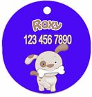 Personalized Custom Pet Dog Cat Tag ID So cute Blue puppy bone Any name Text