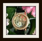 #422 Pretty Hello Kitty Gold-Tone Watch w/Faux Leather Band YOUR CHOICE OF COLOR