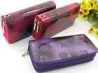 Lady Glossy PULeather Card Coin Wallet Double zipper layers Long Handbag Purse