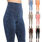MOGAN High Waisted ACID Denim WASH Stretch LEGGING Spandex Skinny Jean Jeggings
