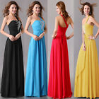 Noble Beauty Princess Formal Gowns Prom Evening Party Long Dress One Shoulder GK