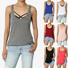 MOGAN BASIC Ribbed Racerback Stretch LONG MUSCLE TANK TOP Scoop Sleeveless Tee