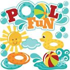 Pool Fun SET of Scrapbook Embellishment Paper Piecing Cards