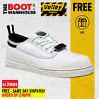 Dunlop Volley Original White Classic Work Boots. Safety Steel Toe Cap UK Fitting
