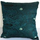 Cushion Cover Chinese Brocade Pillow Case Dark Navy Peacock Feather Motif cbs-46