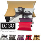 12x Premium Pillow Wedding Favour Gift Boxes, Various Colours & Sizes Bulk Price