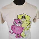 Roobarb and Custard TV Themed Retro Cartoon T Shirt Cool Vintage 70's Hipster
