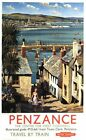 1950's British Rail Penzance Harbour Railway Poster A3/A2 Print