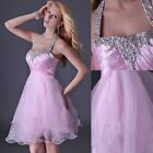 Bridesmaids Party Prom Ball Gown Halter Womens Clubwear Cocktail Evening Dress
