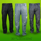 Enzo Designer Mens Denim Jeans Combat Cargo Regular Fit Washed Tapered Fitted