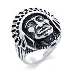 316L Stainless Steel Titanium Gothic Biker King Rock N' Roll Casted Ring M075879