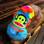 Soft Coral Circus Monkey Pets Cats Puppy Dogs Clothes Cosplay Coat hoodie Jumper