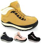 NEW LADIES SAFETY TRAINERS STEEL TOE CAP WORK HIKING LEATHER BOOTS SHOES SIZE3-8