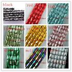 100 Magnetic Hematite Tube Faceted Painted Loose Beads 8x6mm 3color-1 J2