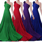 Sexy One shoulder Bridesmaid Dress Formal Evening Dress Size 6-8-10-12-14-16-18
