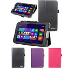 """Slim Leather Folding Folio Stand Cover Case For Acer ICONIA W3-810 8.1"""" Tablet"""