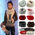 New Warm Infinity Cable Knit Cowl Women Winter Neck Long Scarf Shawl 10 Colors