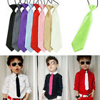 New Satin Elastic Neck Tie for Wedding Prom Boys School Kids Children Ties