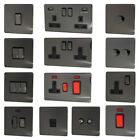 Black Nickel Screwless Flatplate Light Switches & Plug Sockets
