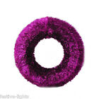 60CM INDOOR TINSEL CHRISTMAS/XMAS HANGING DECORATION WREATH